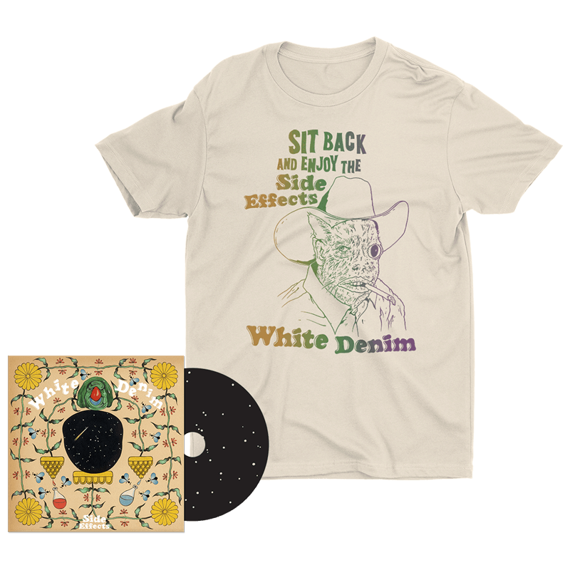 Buy Online White Denim - Side Effects - CD & T-Shirt Bundle