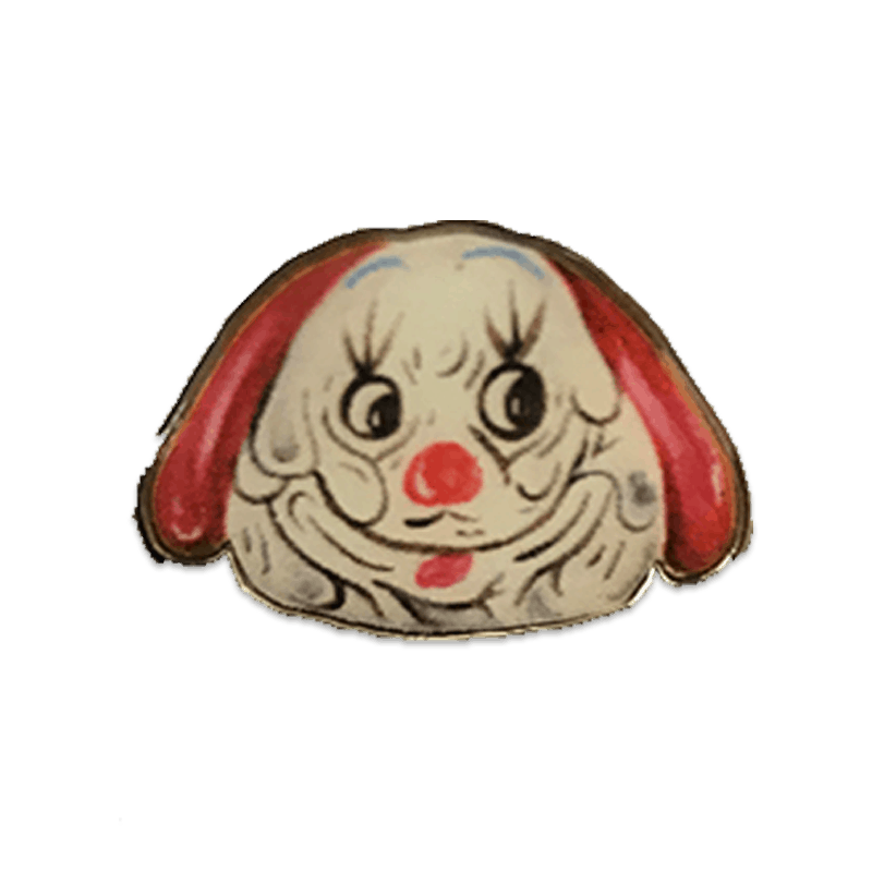 Dog Clown Pin