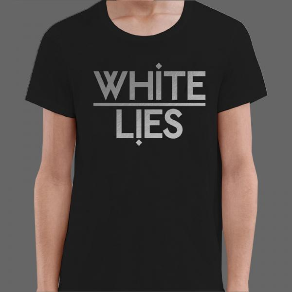 Buy Online White Lies - Black T-Shirt