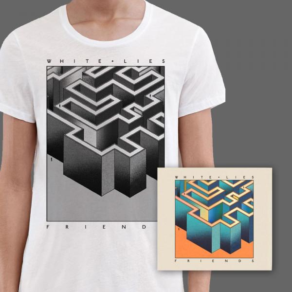 Buy Online White Lies - Friends CD & White T-Shirt