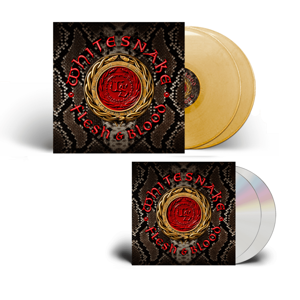Buy Online Whitesnake - Flesh and Blood CD-DVD + Gold Double Vinyl