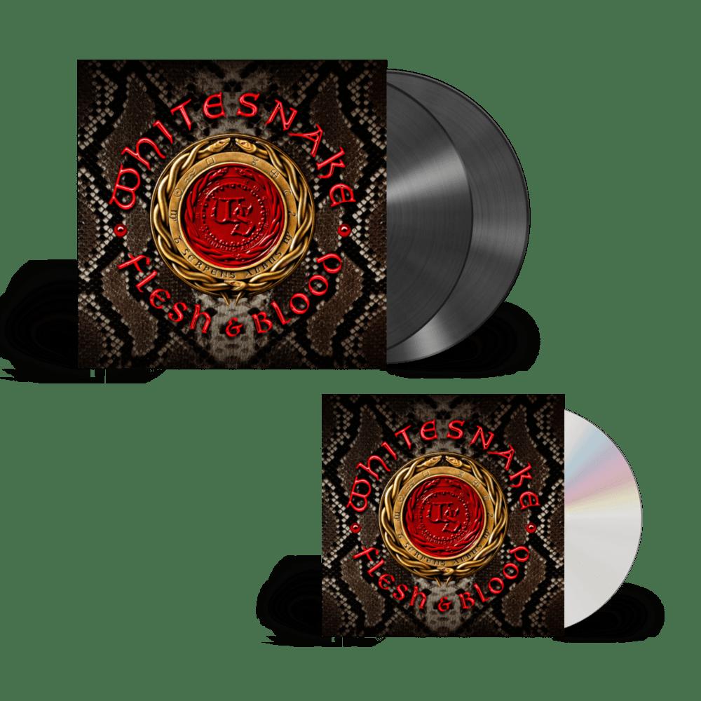 Buy Online Whitesnake - Flesh And Blood CD + Black Double Vinyl
