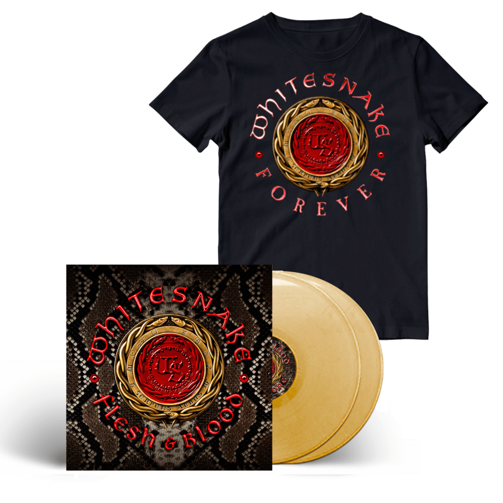 Buy Online Whitesnake - Flesh And Blood Gold Double Vinyl + T-Shirt