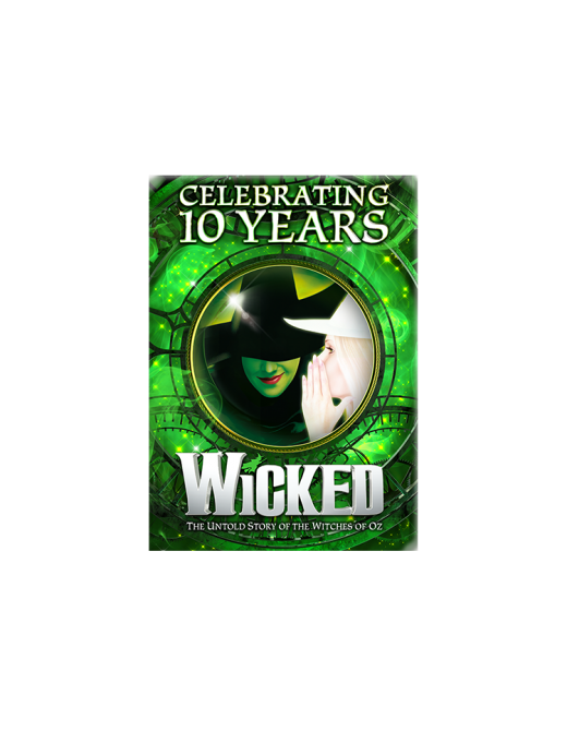 Buy Online Wicked - 10th Anniversary Magnet