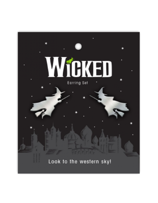 Buy Online Wicked - Flying Witch Earrings