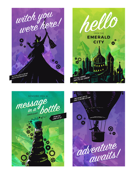 Buy Online Wicked - Postcard Set