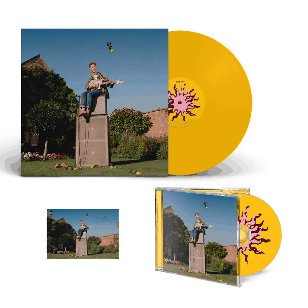 Buy Online Willie J Healey - Twin Heavy Yellow Vinyl + CD (Signed) + A6 Postcard (Signed)