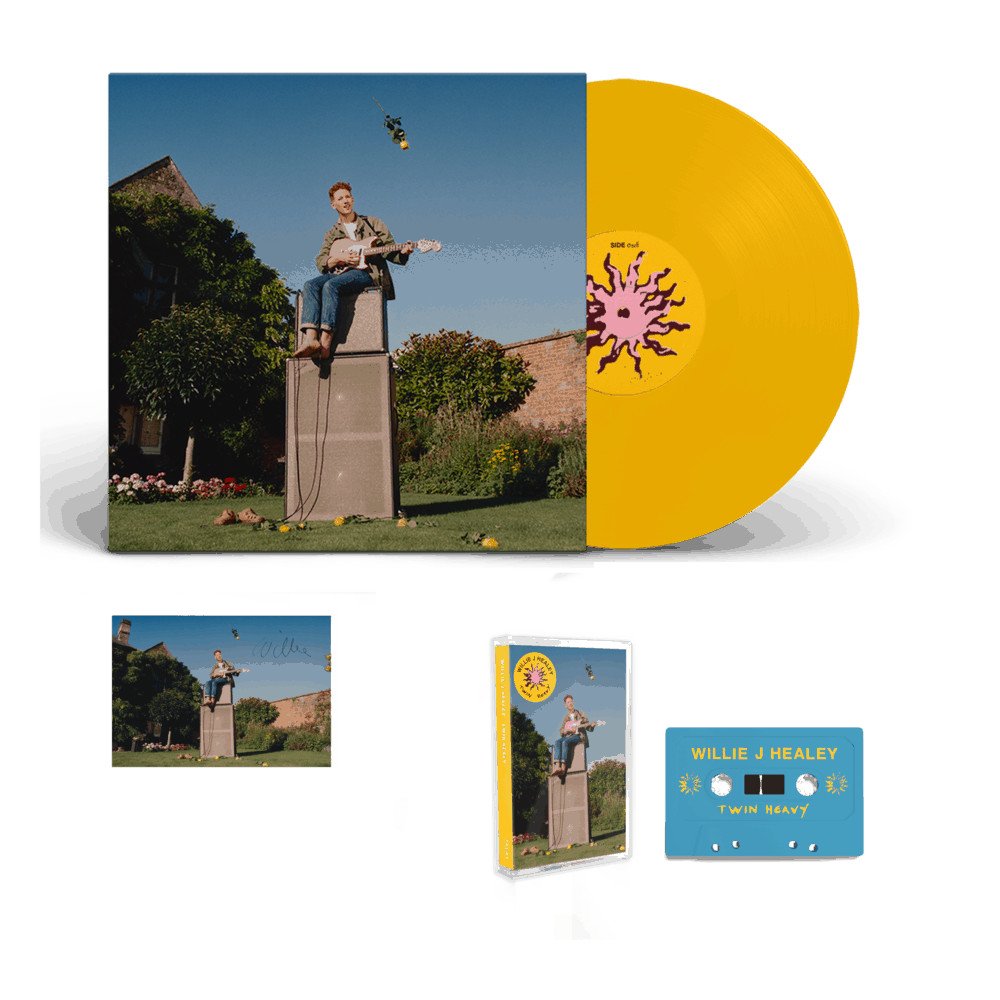 Buy Online Willie J Healey - Twin Heavy Yellow Vinyl (Signed) + Cassette (Signed) + A6 Postcard (Signed)