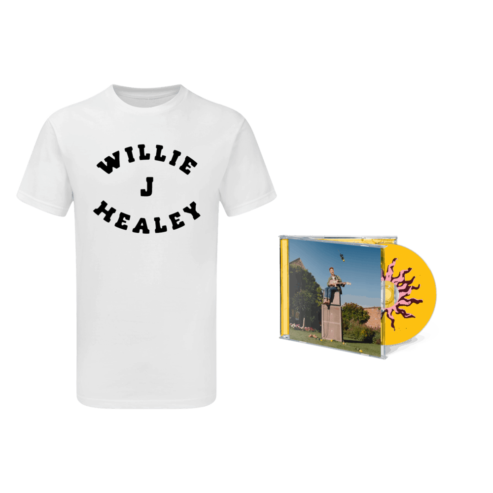 Buy Online Willie J Healey - Twin Heavy CD (Signed) + White T-Shirt