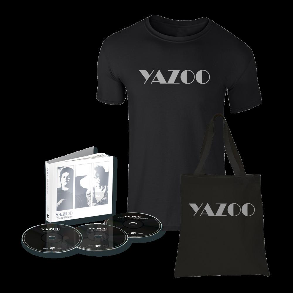 Buy Online Yazoo - Three Pieces: A Yazoo Compendium 3CD + Black Tee + Tote Bag