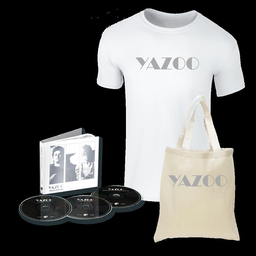 Buy Online Yazoo - Three Pieces: A Yazoo Compendium 3CD + White Tee + Tote Bag