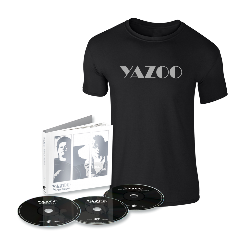 Buy Online Yazoo - Three Pieces: A Yazoo Compendium 3CD + Black Tee