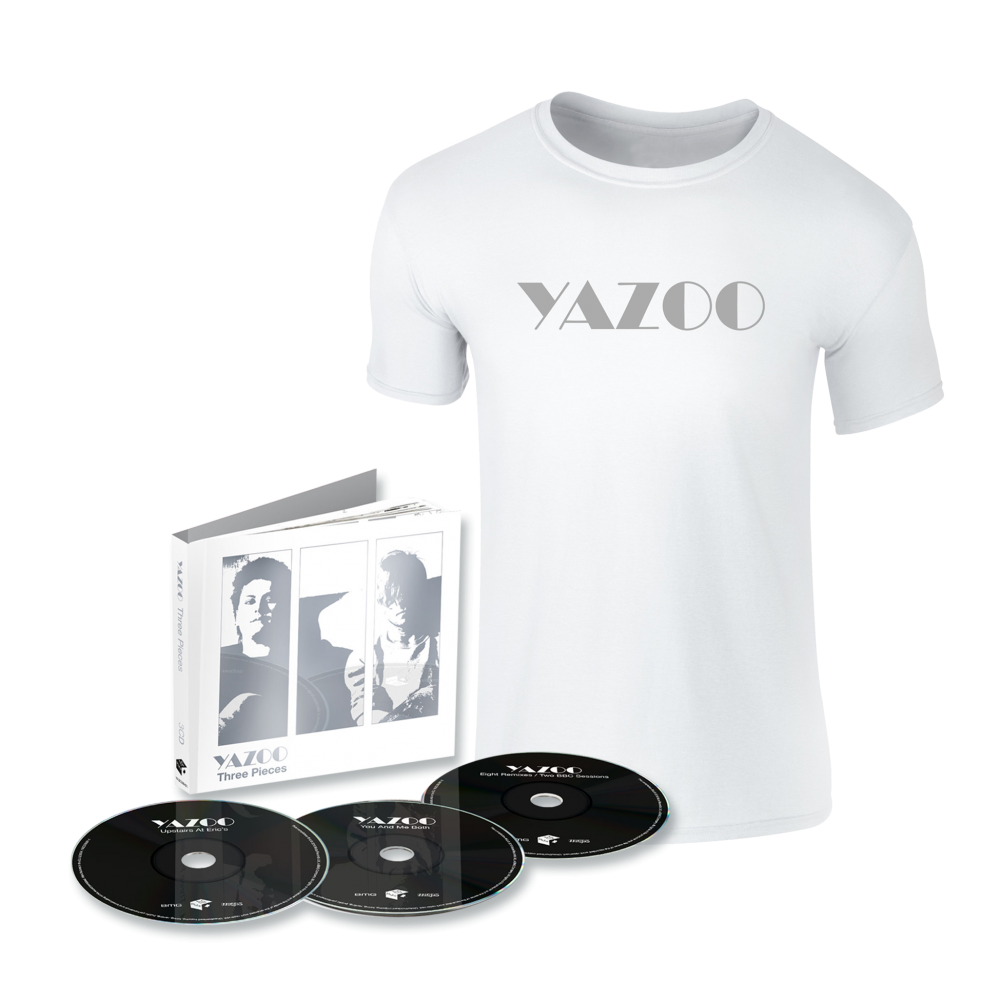 Buy Online Yazoo - Three Pieces: A Yazoo Compendium 3CD + White Tee