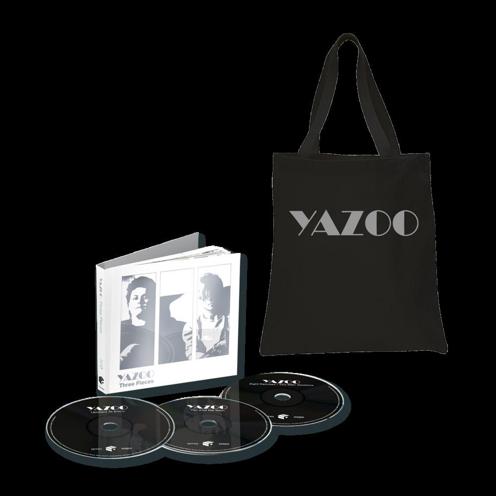 Buy Online Yazoo - Three Pieces: A Yazoo Compendium 3CD + Black Tote Bag
