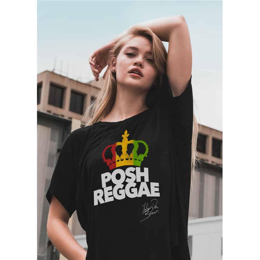 Buy Online YolanDa Brown - Posh Reggae T-Shirt