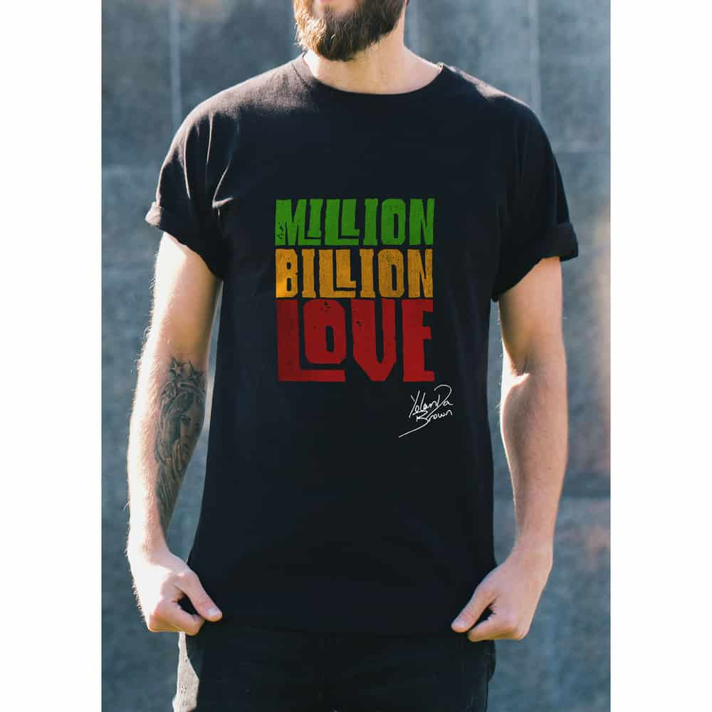 Buy Online YolanDa Brown - Million Billion Love T-Shirt