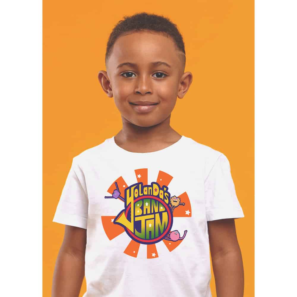 Buy Online YolanDa Brown - YolanDa's Band Jam Kids T-Shirt White