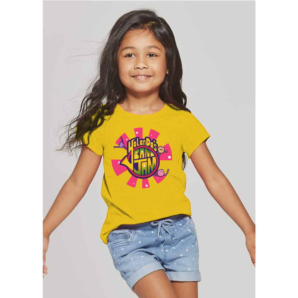 Buy Online YolanDa Brown - YolanDa's Band Jam Kids T-Shirt Yellow