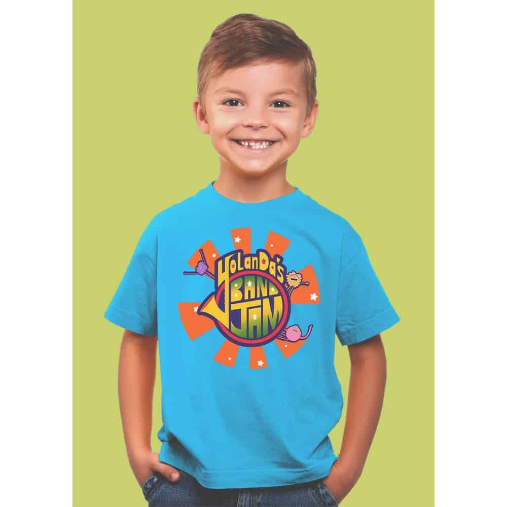 Buy Online YolanDa Brown - YolanDa's Band Jam Kids T-Shirt Blue