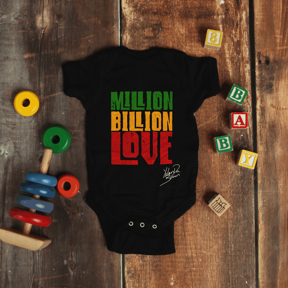 Buy Online YolanDa Brown - Million Billion Love Baby Grow