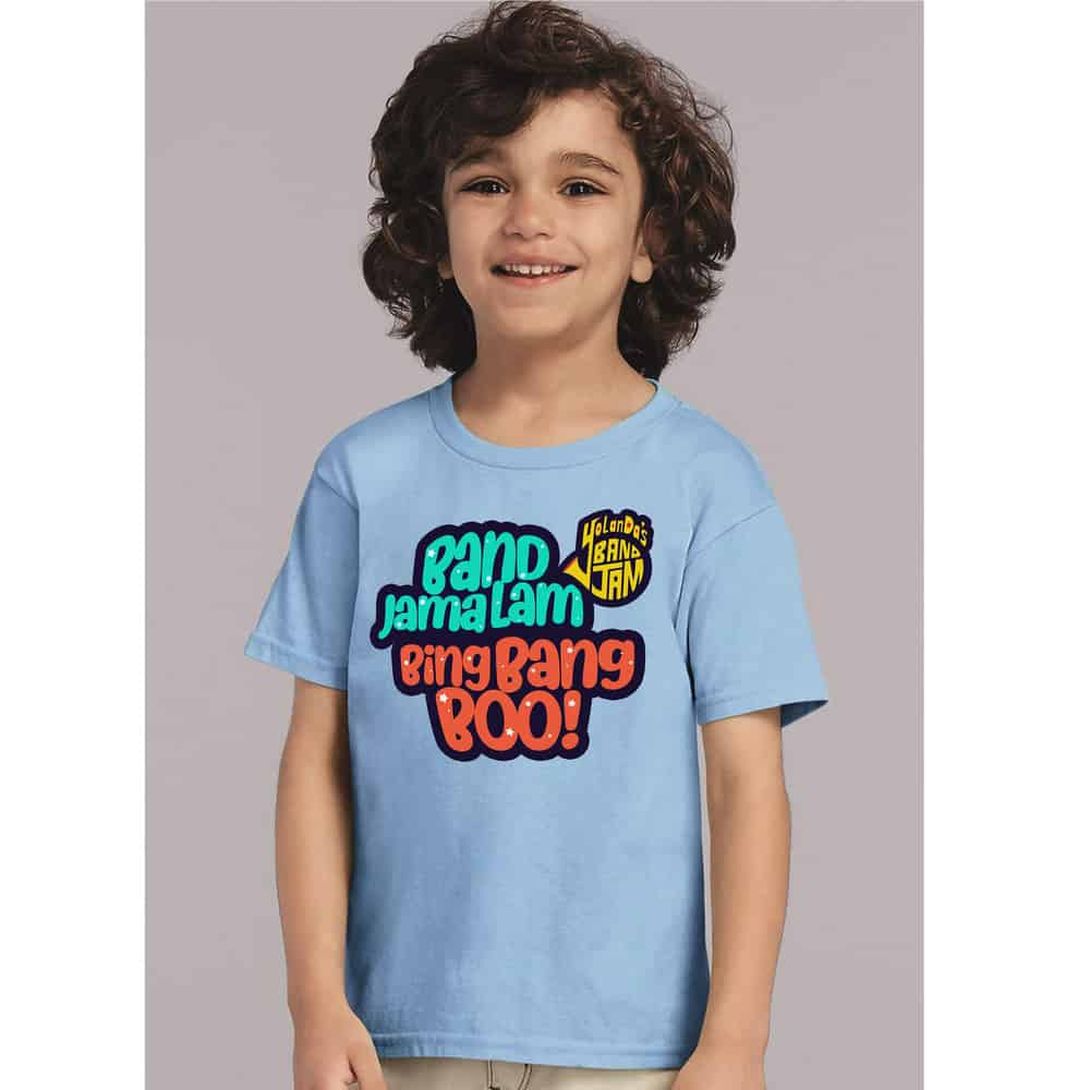 Buy Online YolanDa Brown - BandJamaLam Kids Tee Blue