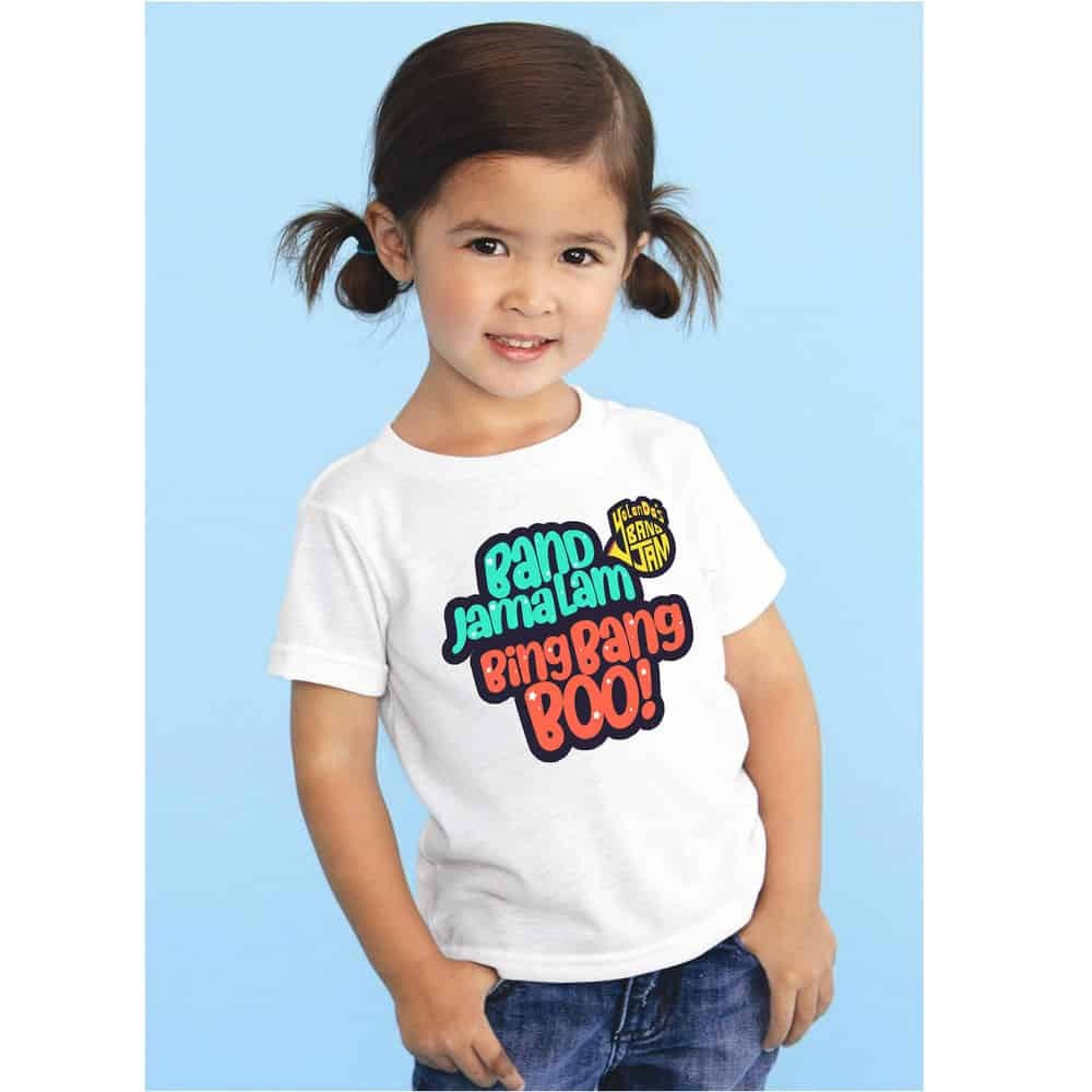 Buy Online YolanDa Brown - BandJamaLam Kids Tee White