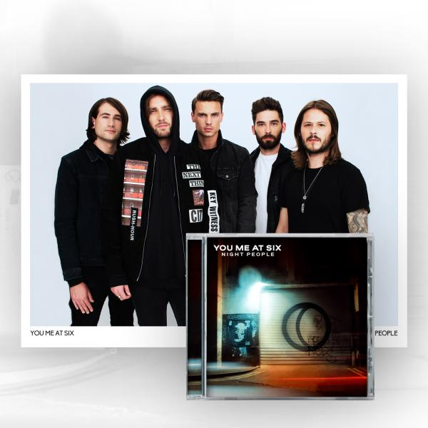 Buy Online You Me At Six - Night People CD + A4 Signed Photo