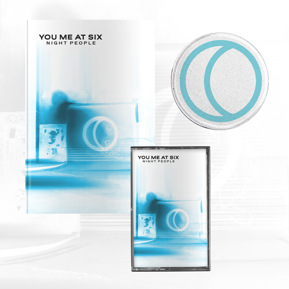 Buy Online You Me At Six - Night People Inverted Artwork Deluxe CD Book + Inverted Artwork Cassette + Blue Patch + Signed A4 Photograph