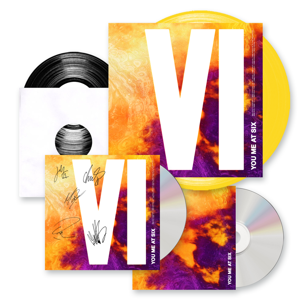 Buy Online You Me At Six - VI CD (Signed) + Coloured Vinyl + Exclusive Bonus CD + Ltd Edition 7-Inch Vinyl