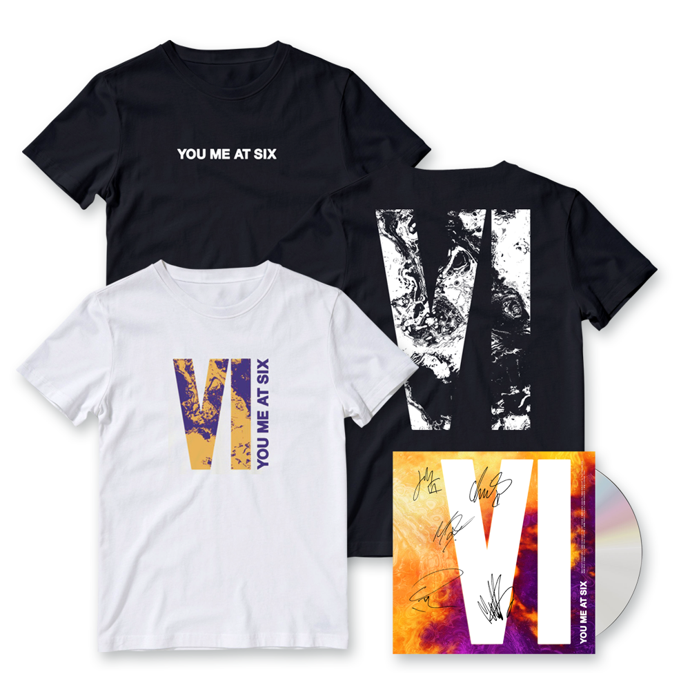Buy Online You Me At Six - VI CD (Signed) + T-Shirt