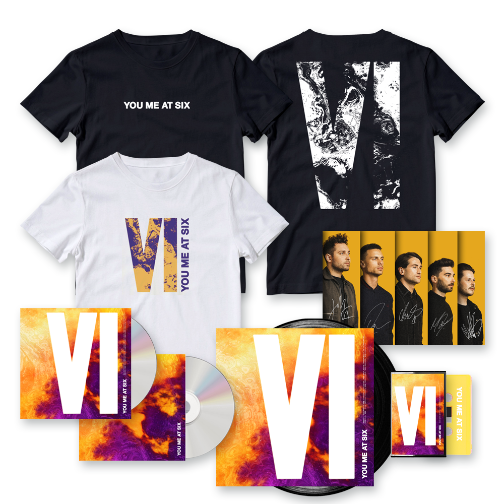 Buy Online You Me At Six - VI CD (Signed) + Vinyl (Signed) + Exclusive Bonus CD + Cassette + T-Shirt + Signed Photograph