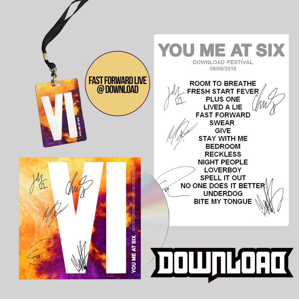 Buy Online You Me At Six - VI Download Festival Bundle