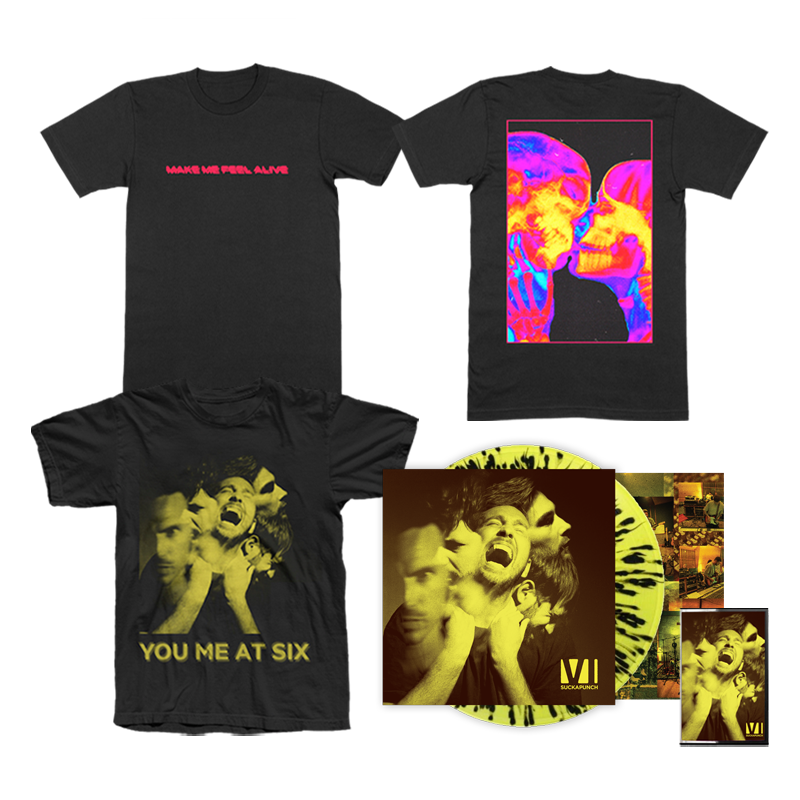 Buy Online You Me At Six - Suckapunch T-Shirt / Splatter Bundle (Signed)