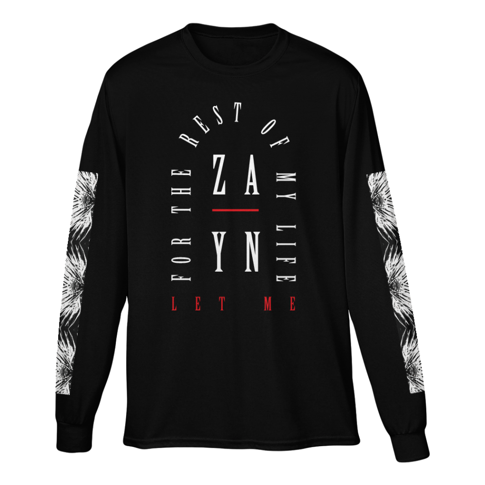 Buy Online Zayn Malik - Let Me Black Long Sleeve T-Shirt