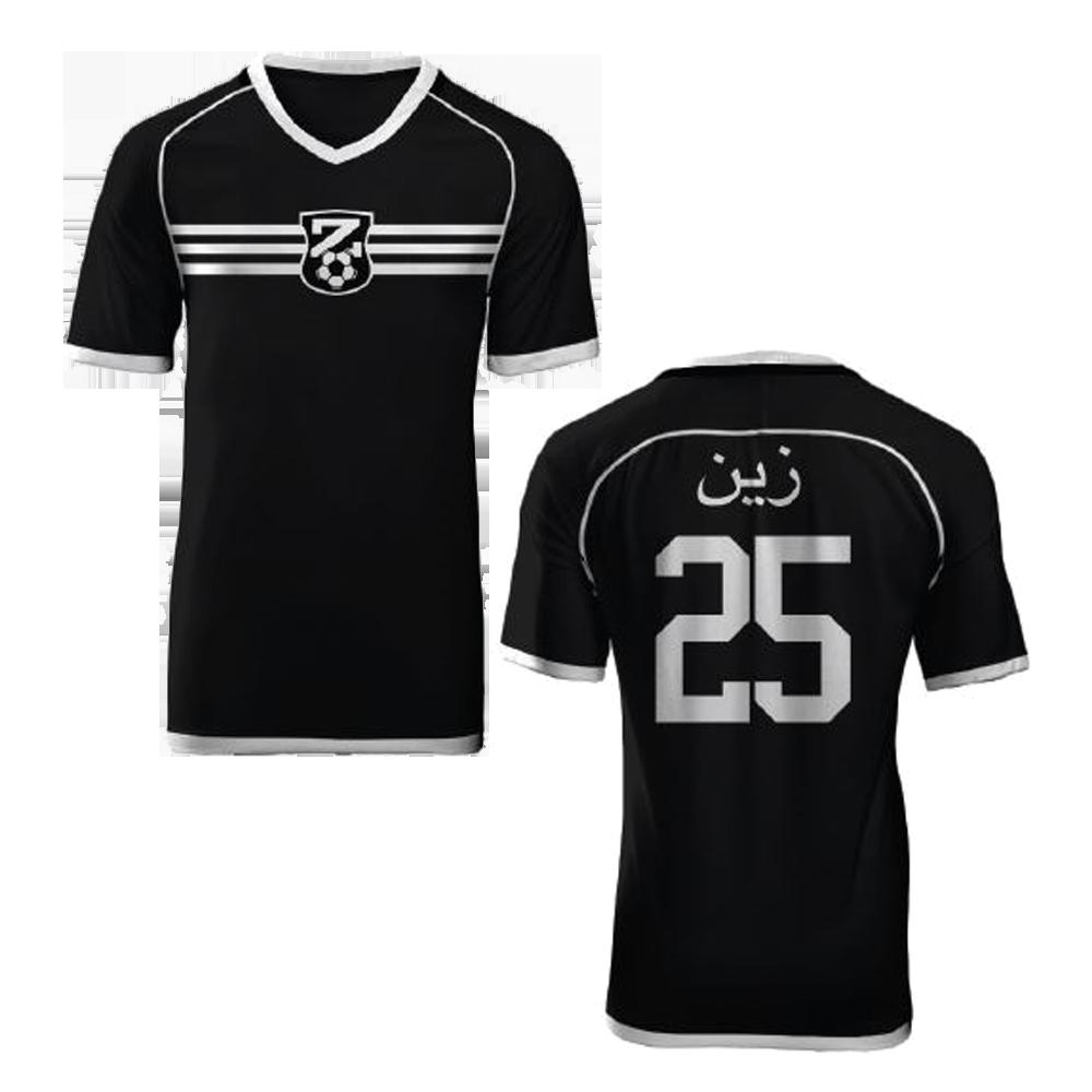 Buy Online Zayn Malik - Black & White Soccer Jersey